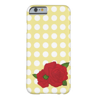 Rose and Polka-Dot iPhone Case