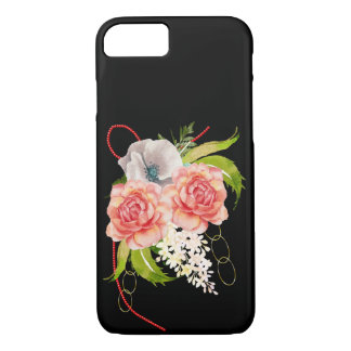 Rose and Red Beads Bouquet iPhone 8/7 Case