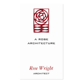Rose Arts & Crafts Architect Pack Of Standard Business Cards