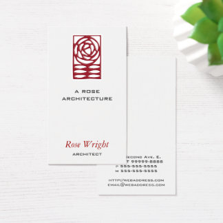 Rose Arts & Crafts Architect Business Card
