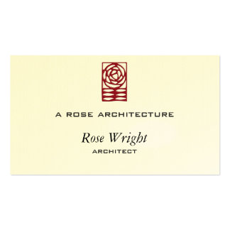 Rose Arts & Crafts Ornament Pack Of Standard Business Cards
