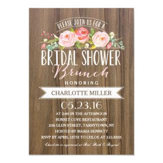 Rose Banner Brunch | Bridal Shower 13 Cm X 18 Cm Invitation Card