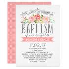 Rose Banner | Girl Baptism Invitation