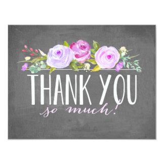 Rose Banner | Thank You Card 11 Cm X 14 Cm Invitation Card