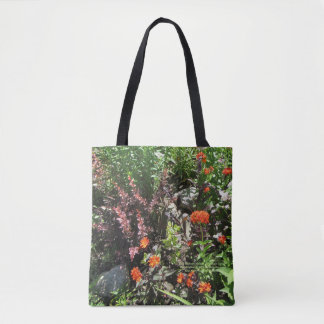 Rose Barberry Maltese Cross Rock Garden Tote Bag