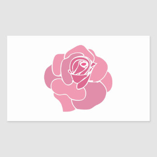 Rose Base Rectangle Stickers