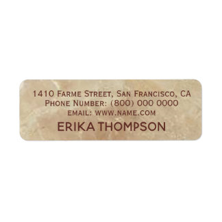 rose beige marble return address label
