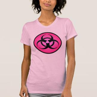 Rose Biohazard Symbol T-Shirt