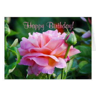 Rose Birthday Greeting Card