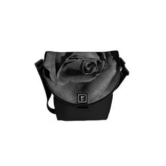 Rose Black and White Mini Messenger Bag