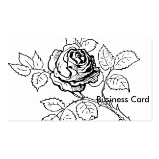 Rose-Black and White Pack Of Standard Business Cards