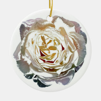 Rose bloom christmas ornaments