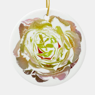 Rose bloom christmas tree ornaments