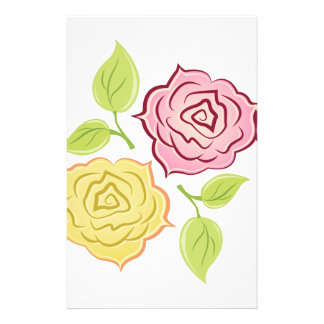 Rose Blooms Customized Stationery
