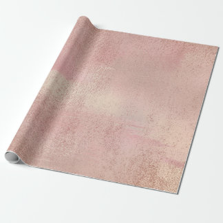 Rose Blush Foxier Skin Gold Beauty Makeup Stylist Wrapping Paper