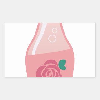 Rose Bottle Rectangular Sticker