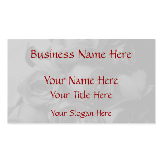 Rose Bouquet In Black & White (a) Business Cards