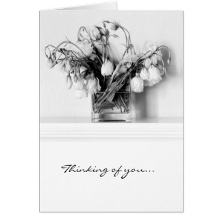Rose Bouquet in Black & White Cards