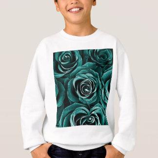 Rose Bouquet in Turquoise Sweatshirt