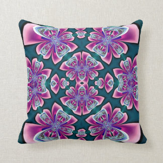 Rose Bows on Teal Green American MoJo Pillow