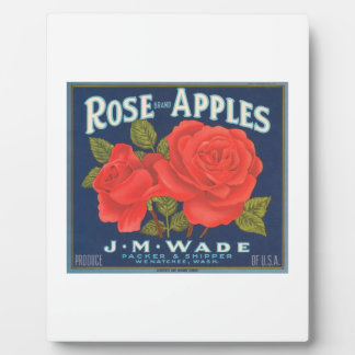 Rose Brand Apples Vintage Crate Label Display Plaque