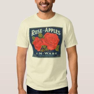 Rose Brand Apples Vintage Crate Label Tees