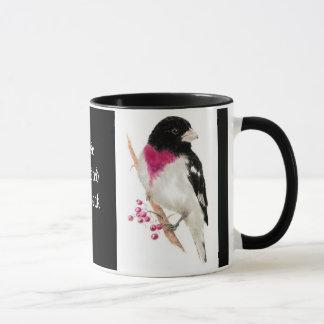 Rose Breasted Grosbeak, Bird, Nature, Mug