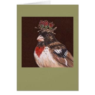 rose-breasted grosbeak card, Winston Card