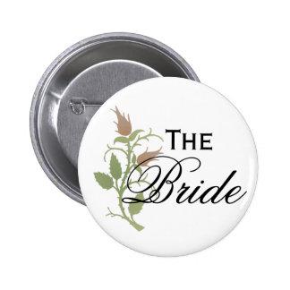 Rose Bride 6 Cm Round Badge