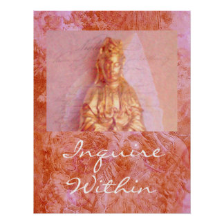 Rose-Bronze Kwan Yin Poster