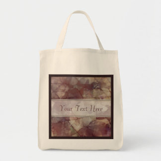 Rose Brown Marble Canvas Bags