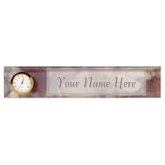 Rose Brown Marble Nameplates