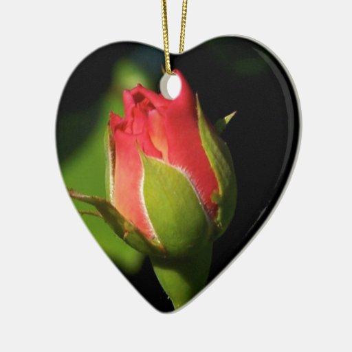 Rose Bud Ornaments