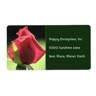 Rose Bud Shipping Label
