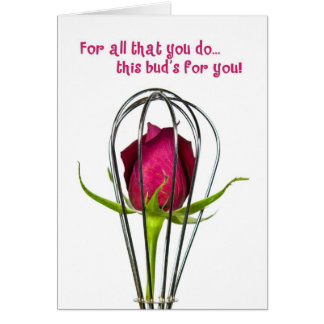 Rose Bud Thank You Cards