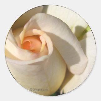 Rose bud  Wedding Envelope Seal Round Sticker