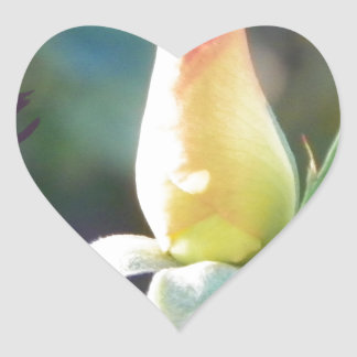 rose bud with a high five heart sticker