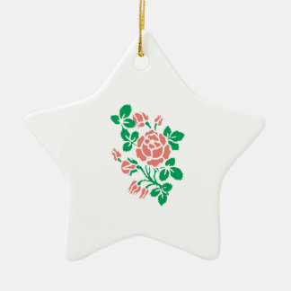 Rose Buds Christmas Tree Ornaments