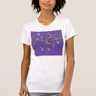 ROSE BUDS ON HEART VINE T SHIRTS