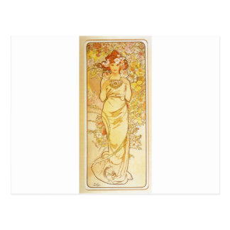 Rose by Alphonse Mucha Postcard