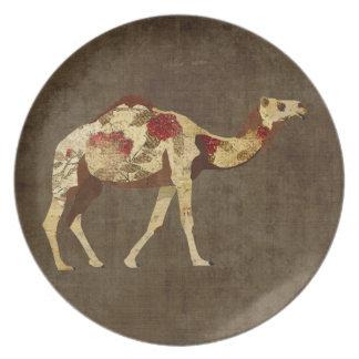 Rose Camel  Plate
