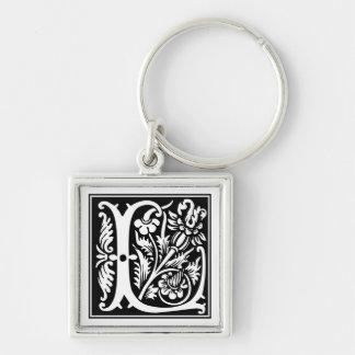 Rose Capital Monogram L Keychain