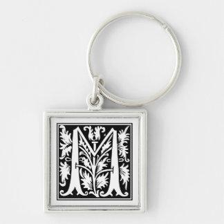 Rose Capital Monogram M Keychain
