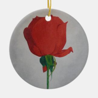 Rose Ceramic Ornament