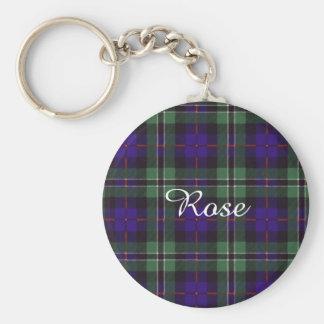 Rose clan Plaid Scottish tartan Key Ring