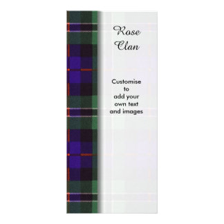 Rose clan Plaid Scottish tartan Customized Rack Card