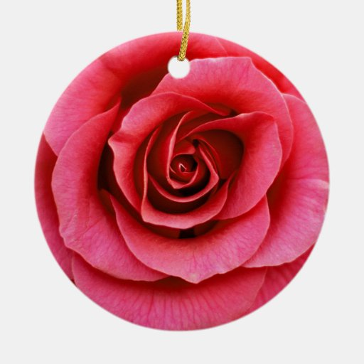 rose clear ornament