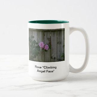 "Rose ""Climbing Angel Face"" Two-Tone Coffee Mug"