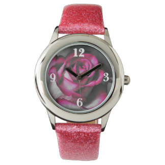 Rose clock watches