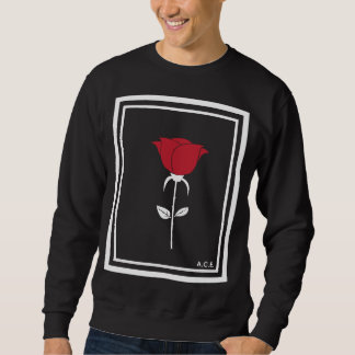 Rose Collection Black Crewneck Sweatshirt